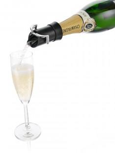 šampano butelio serviravimas Vacu Vin
