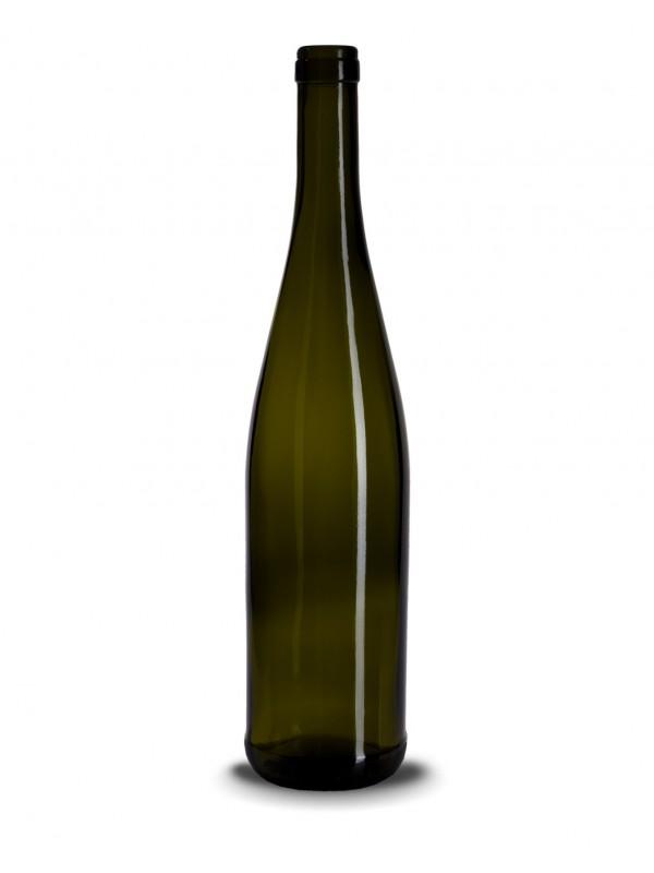 Stiklinis vyno butelis (schlegel) 750 ml, 480g, antikinis žalias