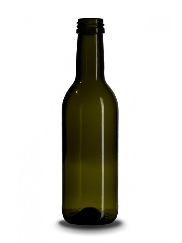 Stiklinis vyno butelis Bordeaux 0,25 l, 205g.