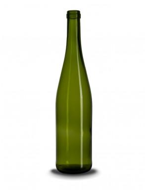 Stiklinis vyno butelis (schlegel) 750 ml,480g, rudas lapas
