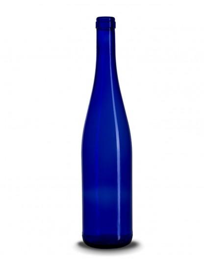 Stiklinis vyno butelis (schlegel) 750 ml, šviesiai mėlynas