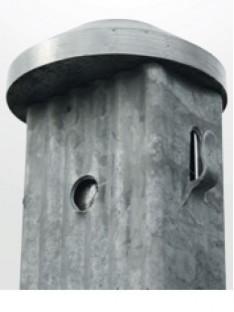 Cinkuoto metalinio stulpo kalimo apsauga 60mm