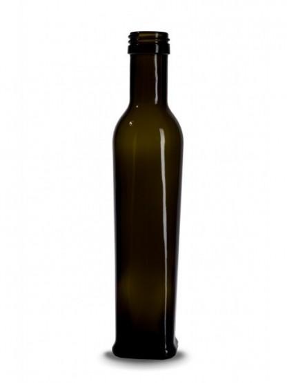 Stiklinis butelis Olivolio, 0,25l. : Spalva - antikinis žalias, Pavyzdys