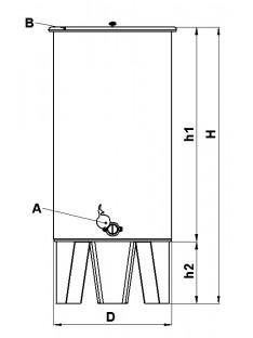 Statinė iš NP medaus saugojimui ant trijų kojų