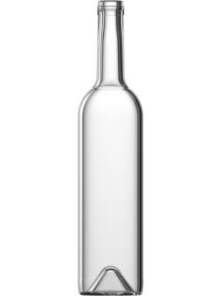 Stiklinis vyno butelis 700 ml, 460g, skaidrus