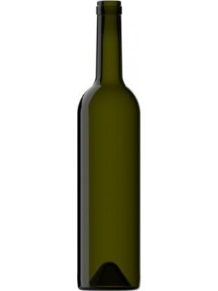 Stiklinis vyno butelis 700 ml, 460g, rudas