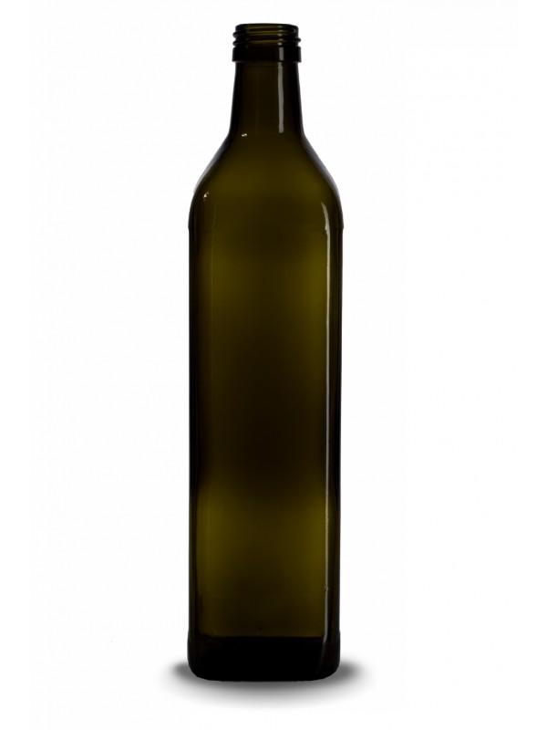 Stiklinis butelis aliejui Marasca, 0,75l., t.žalias