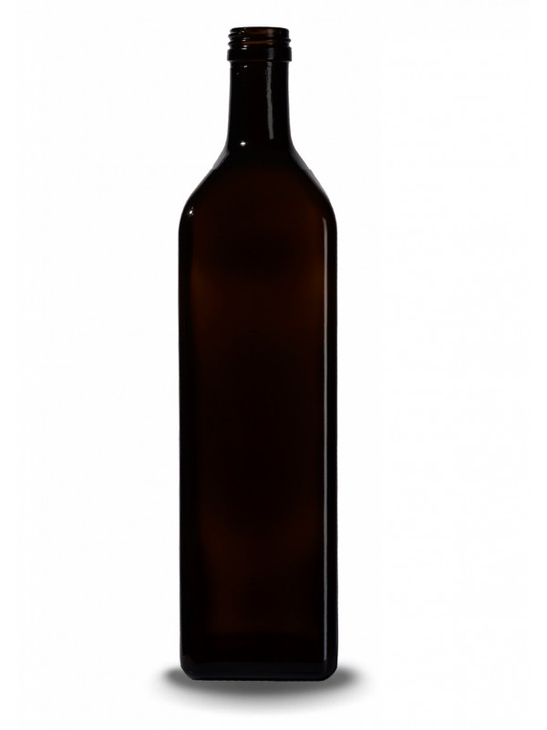 Stiklinis butelis aliejui Marasca, 1 l., t.žalias