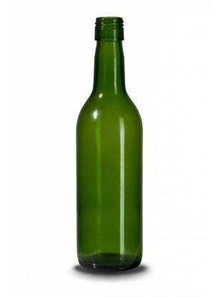 Stiklinis vyno butelis Bordeaux 145g. 187 ml, žalias