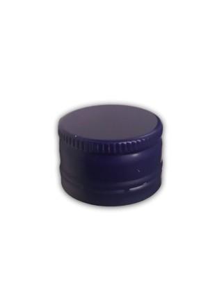 Aliuminis kamštelis be sriegio 28x17,5mm mėlynas