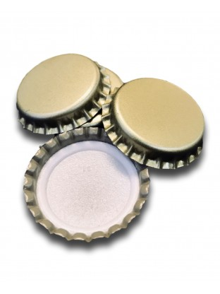Metalinis karūninis kamštis 29 mm, auksinis