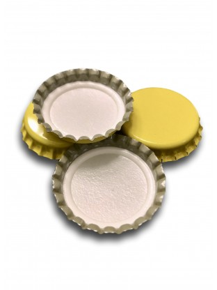 Metalinis karūninis kamštis 29 mm, geltonas
