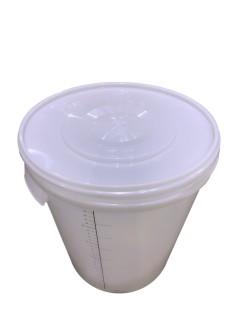 Plastikinis kibiras su dangčiu ir skale 30 ltr