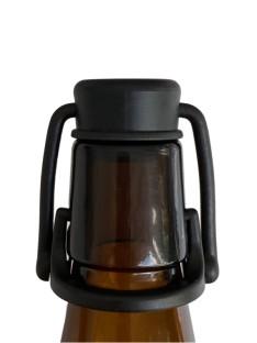 Rankinis kamštelis alaus buteliui iš tvirto plastiko