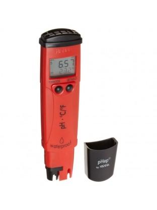 Elektroninis pH ir temperatūros matavimo prietaisas atsparus vandeniui