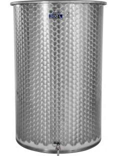Nerūdijančio plieno atvira statinė, plokščiu dugnu ir išleidimo kraneliu Zottel