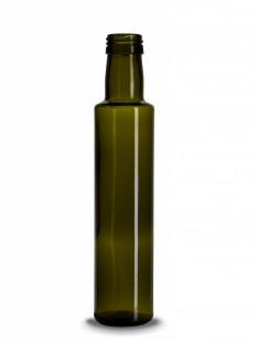 Stiklinis butelis Aliejui, Dorica 250ml, antikinis žalias, su 31,5 sriegiu