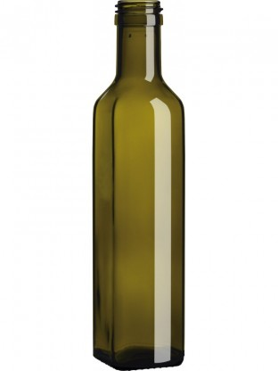 Stiklinis butelis aliejui Marasca, 0,25l.