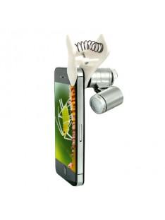 Kišeninis mikroskopas išmaniąjam telefonui 30x didinimas