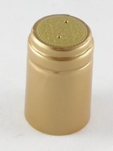 Vyno butelio termo kapsulė 30,5x50mm aukso spalvos