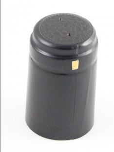 Vyno butelio termo kapsulė 30,5x50mm juodos spalvos