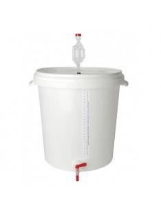 Plastikinis fermentacijos kibiras BREWFERM, 30 ltr. su dangčiu ir kraneliu