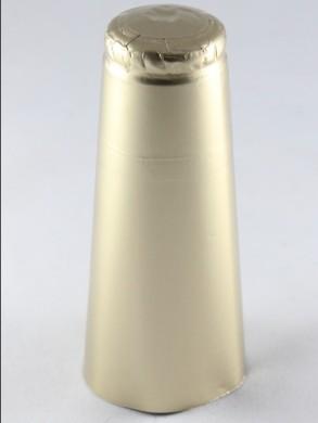 Šampano butelio aliuminė kapsulė, auksinė